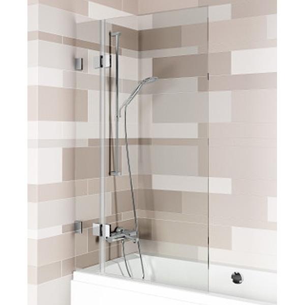 Шторка на ванну Riho Scandic 85 профиль Матовый хром стекло прозрачное комплектующие ограждения riho шторка душевая hamar quadrant 90x90 r55 gr33200