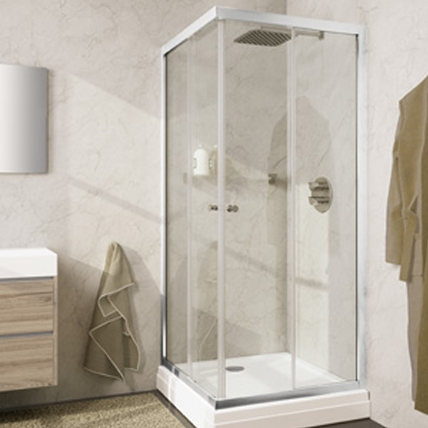 Душевой уголок Riho Lucena 80х80 профиль Хром стекло прозрачное