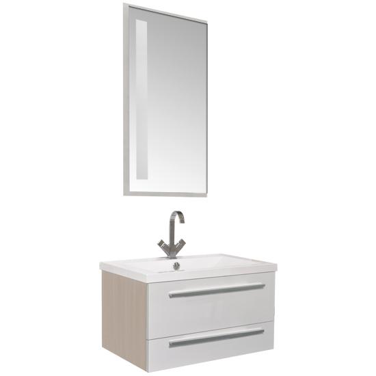 Нота 75 Алюминий белый глянецМебель для ванной<br>Мебель для ванной Акванет 171487 Нота 75 Алюминий. В стоимость входит тумба. Цвет: белый глянец. Раковина, зеркало, светильник, подкатная тумба и пенал приобретаются отдельно.<br>