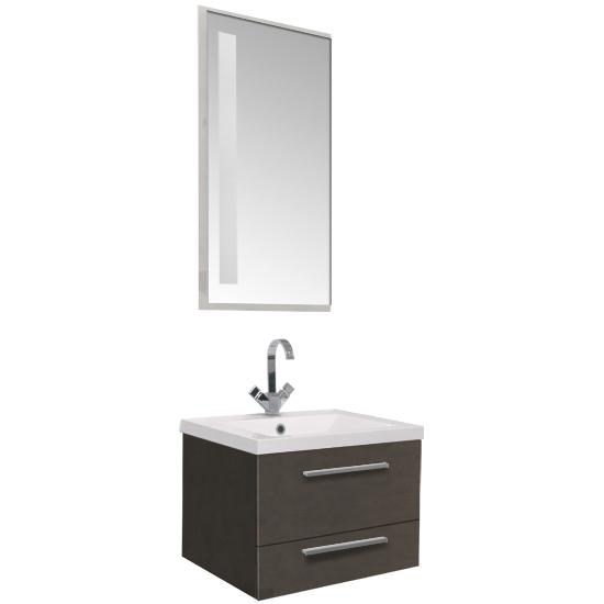 Нота 58 Алюминий черный глянецМебель для ванной<br>Тумба под раковину Акванет 171486 Нота 58 Алюминий. В комплект поставки входит тумба. Цвет: черный глянец.<br>