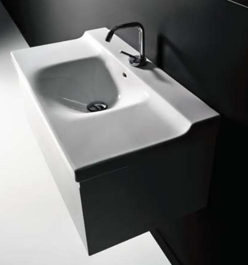 Buddy 9126 1000 ммМебель для ванной<br>Тумба под раковину подвесная Kerasan Buddy 9126  под умывальник с одной чашей. Цвет белый глянцевый.<br>