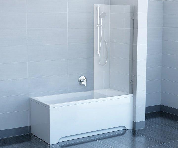 Brilliant BVS1-80 хром+транспарентДушевые ограждения<br>Неподвижная шторка на ванну Ravak Brilliant BVS1 80. Витраж из безопасного стекла толщиной 8 мм. Левый или правый варианты получаются путем разворота изделия на 180°.<br>