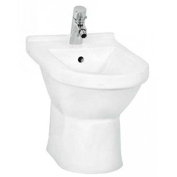 S50 5305B003-0064 напольное БелоеБиде<br>Биде Vitra S50 5305B003-0064 напольное.<br>Современный дизайн изделия прекрасно впишется в интерьер любой ванной комнаты.<br>Материал: санфарфор толщиной 18 мм, не впитывающий грязь.<br>Одно отверстие под смеситель.<br>Слив-перелив.<br>