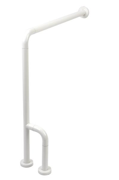 Disabili 9055 800х800 ммАксессуары для ванной<br>Поручень от пола к стене Kerasan Disabili 9055 реверсивный DX/SX DN6. Цвет белый.<br>