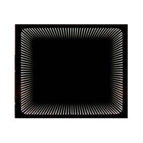 Wenecja 1000x750 ЧерноеМебель для ванной<br>Dubiel Vitrum Wenecja 1000x750 черное зеркало для ванной комнаты. С красивой периметральной внутренней LED подсветкой. Крепления вмонтированы с задней стороны для вертикального или горизонтального размещения зеркала. С рамой для подсветки с задней стороны зеркала.<br>