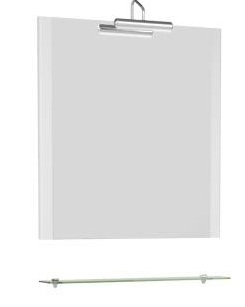 Асти 177789 750 ммМебель дл ванной<br>Зеркало с полочкой Aquanet Асти 75 177789 . Цвет белый.<br>