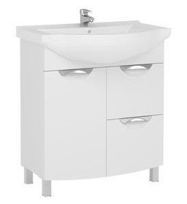 Асти 177785 БелаяМебель для ванной<br>Тумба Aquanet  Асти 75 177785  с бельевой корзиной. Без раковины. Цвет белый.<br>