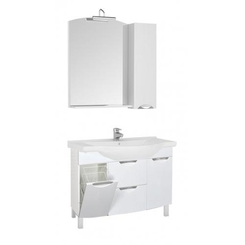 Асти 178239 БелаяМебель для ванной<br>Тумба Aquanet Асти 105 178239. Выдвижные ящики. Без раковины. Цвет белый.<br>