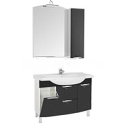 Асти 178240 Белая (фасад черный)Мебель для ванной<br>Тумба Aquanet Асти 105 178240. Выдвижные ящики.  Цвет белый (фасад черный).<br>