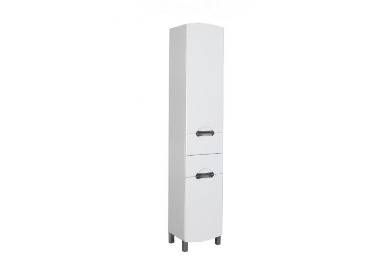 Асти 178245 400 ммМебель для ванной<br>Пенал напольный Aquanet Асти 40. Выдвижные ящики. Цвет белый (фасад черный).<br>