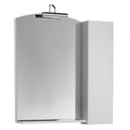 Асти 85 Белое (фасад черный)Мебель для ванной<br>Зеркало со шкафом Aquanet Асти 85 178244 . Цвет белый (фасад черный).<br>