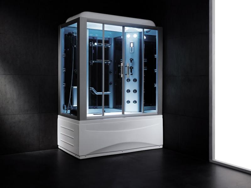 B611A ( R ) С паромДушевые боксы<br>Душевая кабина SSWW   B611A ( R ). В комплект  входят: крыша, система подачи пара, система подачи и переключения горячей и холодной воды, верхний душ, ручной душ на телескопической стойке, гидромассажные форсунки спины.<br>