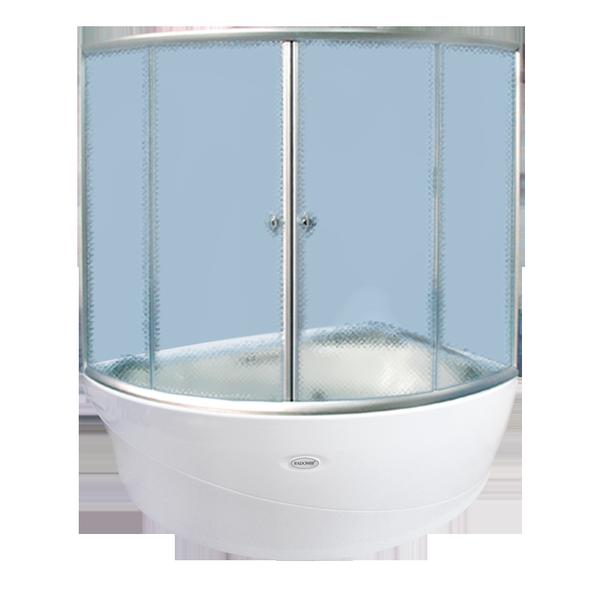 Альбена АлюминийДушевые ограждения<br>Стеклянная шторка на ванну АЛЬБЕНА. 2 раздвижные створки. Профиль алюминий.<br>
