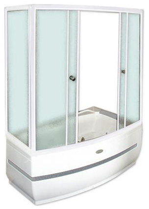 Аризона  АлюминийДушевые ограждения<br>Стеклянная шторка на ванну  АРИЗОНА. 2 раздвижные створки. Профиль алюминий.<br>
