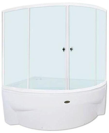 Астория АлюминийДушевые ограждения<br>Стеклянная шторка на ванну АСТОРИЯ. 2 раздвижные створки. Профиль алюминий.<br>