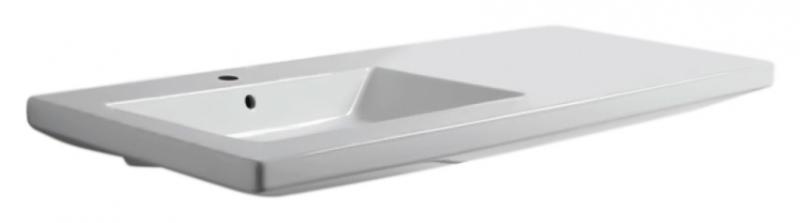 Thin THI 120M/Sosp bianco lucido, 1 отверстие под смесительРаковины<br>Раковина Azzurra Thin THI 120M/Sosp с белоснежной глянцевой керамикой кажется простой на вид, но скрывает оригинальный и функциональный дизайн. Одно отверстие для смесителя выбито. Цена указана за чашу раковины. Все остальное приобретается дополнительно.<br>